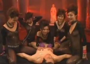 エロス地獄のデビル痴女たちにローションでぬるぬるにされイキ殺される