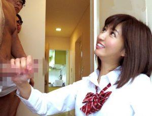 麻生希 激カワセーラー服JKが手コキ隊をローション手コキで瞬殺で3本連続抜きする