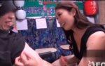 熟女 小早川怜子の凄テク手コキに我慢できず、5分足らずで早漏暴発射精しちゃう挑戦者