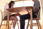 あおいれな 女子高生の義妹にテーブルの下でひっそり足コキされ、大量射精し床を汚してしまう兄w