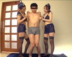 香椎りあ 本田岬 ビーチクが敏感なBBボーイがWCAコスプレ痴女に超絶テクでイカされ潮吹きまでされる